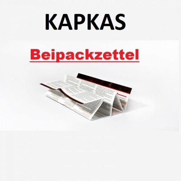 Kapkas Beipackzettel für 2021 Konformität