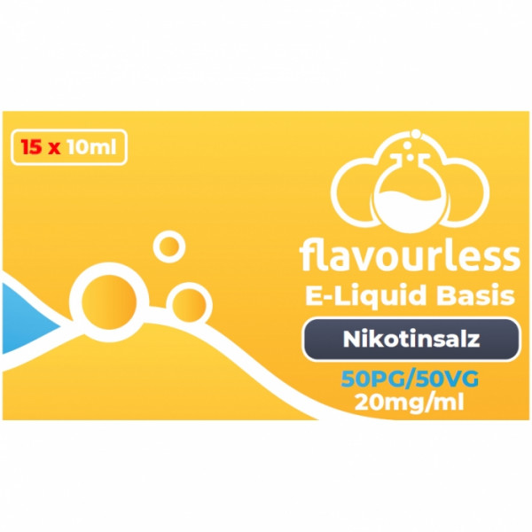 ! VPG NIKOTINSALZ Flavourless Booster Basen-Shot (50/50) 20mg - 15x10ml