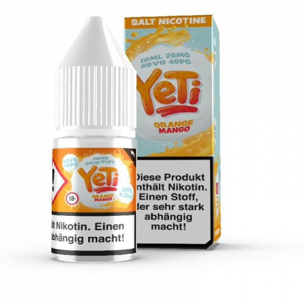 Orange Mango - 10 ml Nikotin Salz Liquid - Yeti