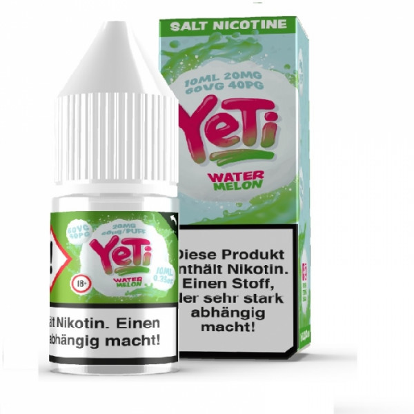 Watermelon - 10 ml Nikotin Salz Liquid - Yeti
