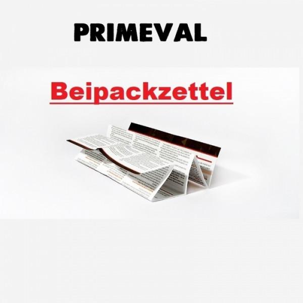 Primeval Beipackzettel für 2021 Konformität