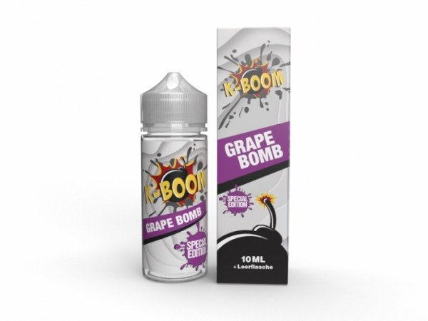GRAPE BOMB 2020 - 10 ml Longfill-Aroma inkl Leerflasche - K-BOOM