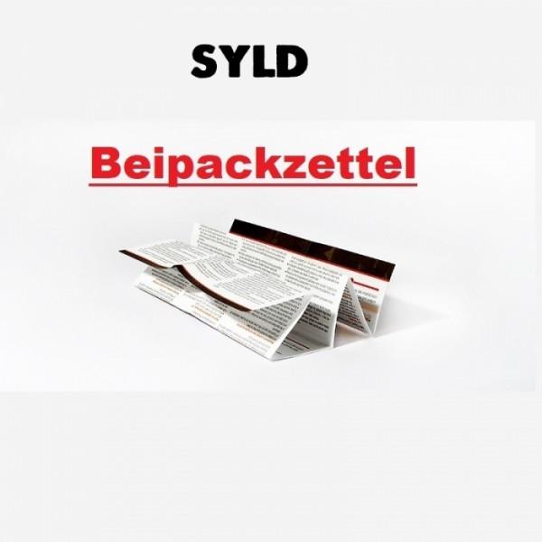 SYLD Beipackzettel für 2021 Konformität